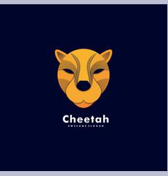 logo cheetah head colorful style vector image