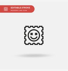 Lsd simple icon symbol design vector