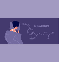 melatonin hormone structure hormones sleep flat vector image