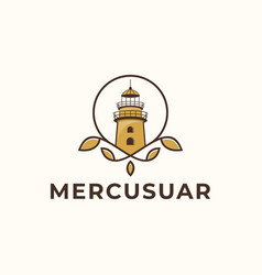mercusuar logo design template vector image