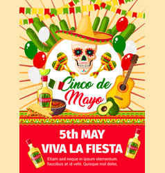 Mexican cinco de mayo invitation card vector
