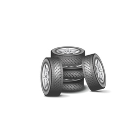 Modern wheel vector image