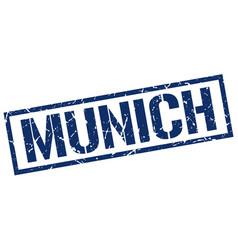 Munich blue square stamp vector