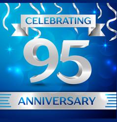 ninety five years anniversary celebration design vector image