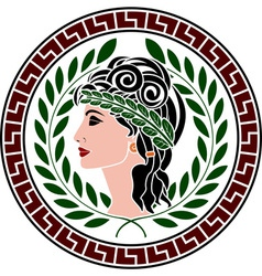 Patrician women stencil second variant vector