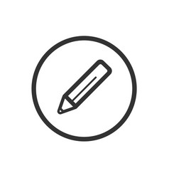pencil line icon on a white background vector image