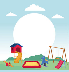 playground set of games vector image