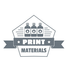 print materials logo simple style vector image