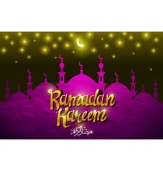 Ramadan greetings background View of mosque in vector