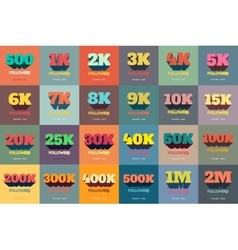 Retro Thanks Design SET for Network Friends and vector