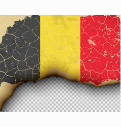 ripped belgium flag country torn paper burning vector image