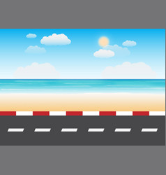road with beach background vector image
