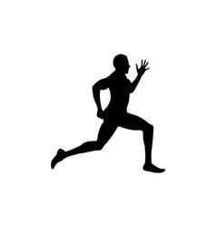 Running sprint man vector image