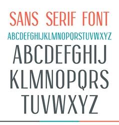 Sans serif narrow font vector