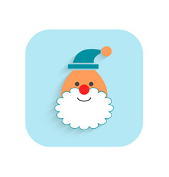 Santa claus christmas flat icon holiday symbol vector