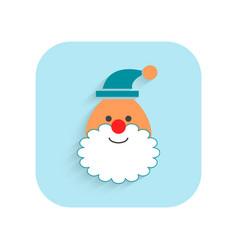 santa claus christmas flat icon holiday symbol vector image