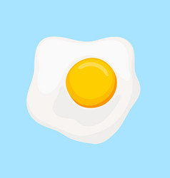 scrambled eggs with yellow yolk top view vector image