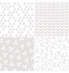 seamless background patterns in stone and white vector image