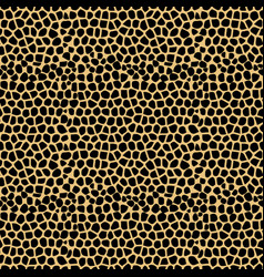 seamless pattern with giraffe skin texture vector image