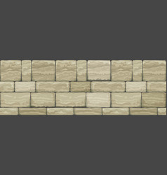 Seamless wide texture old stone vector