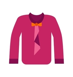 Shirt with Bow vector