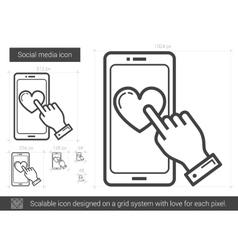 Social media line icon vector image
