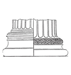Spira base a column in tuscan vintage vector