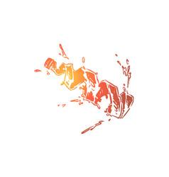 splashing water in bottle shape vector image