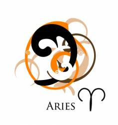 star sign zodiac aries vector image