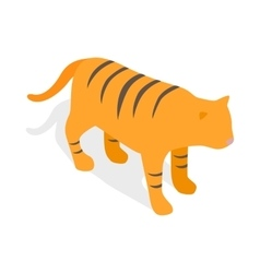 Tiger icon isometric 3d style vector image
