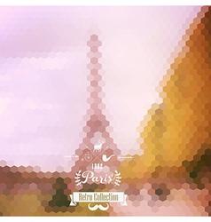 view on Eiffel Tower Paris France Blur background vector image