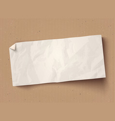 white paper banner on old cardboard vector image