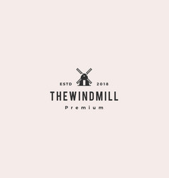 windmill logo icon vector image