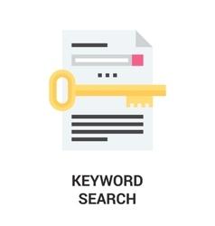 Keyword search icon vector