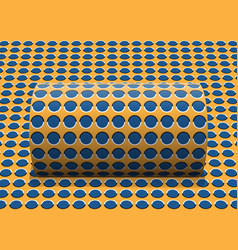 polka dot cylinder is rolling along the inclined vector image