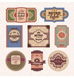 set of vintage style frames vector image