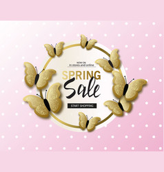spring sale banner background template with vector image vector image