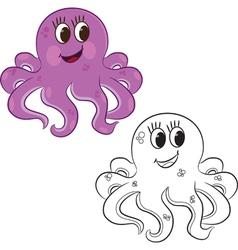 Cartoon octopus vector image