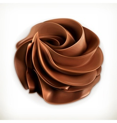Chocolate whipped cream icon vector image