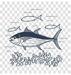for fishing linear style vector image