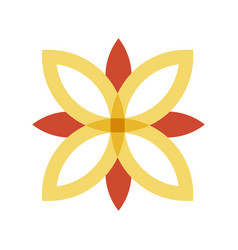 red and gold flower logo vector image