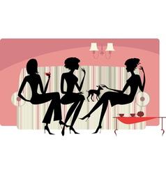 Talking women vector image vector image