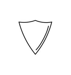 triangle shield icon vector image