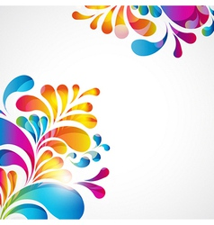 Abstract teardrop background vector image vector image