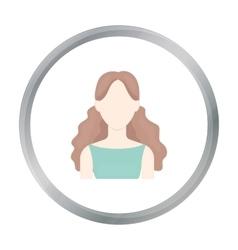 Curly girl icon cartoon single avatarpeaople vector