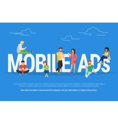 Mobile ads concept vector image vector image