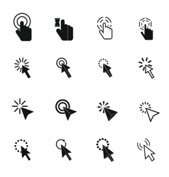 Mouse pointer icons set simple style vector image vector image