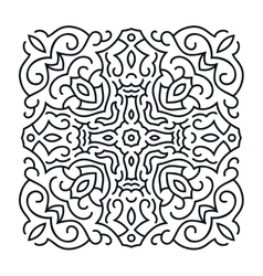 Outlines ornament trendy mandala design vector image