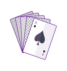 playing cards in flat design vector image vector image