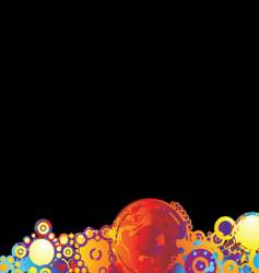 rainbow circle background vector image vector image